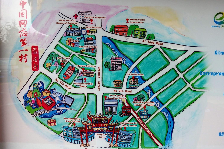 タオバオ村地図